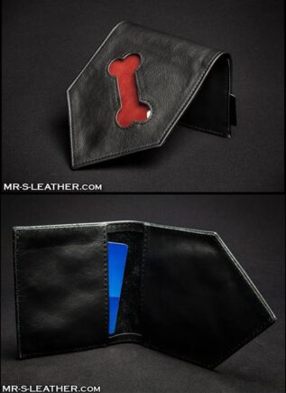 Mr. S Leather Bone Hanky Black