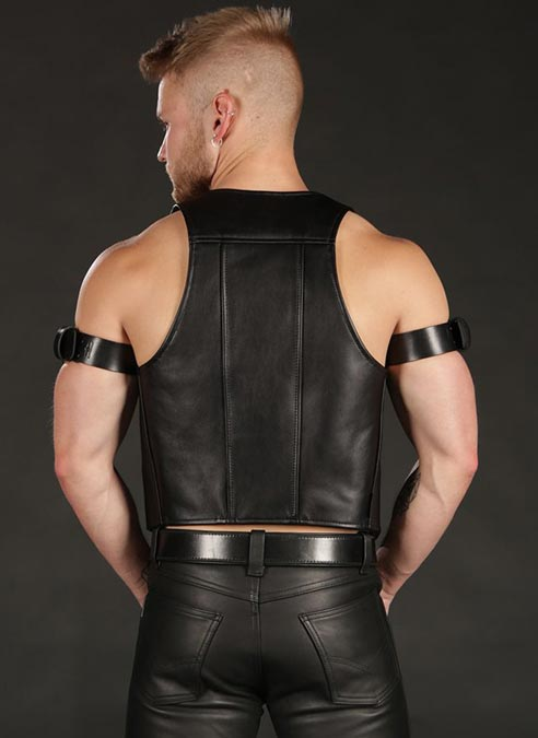 Mr. S Leather Berlin Bar Vest Small