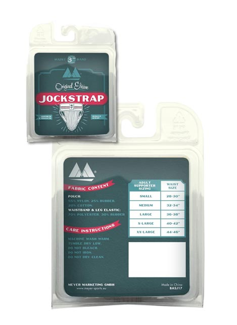 "MM 3"" Classic Jockstrap White Small"