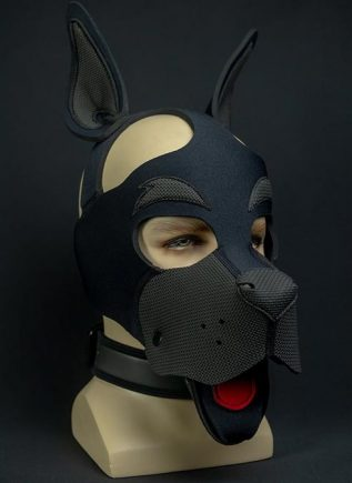 Mr. S Neoprene WOOF! Head Harness Black