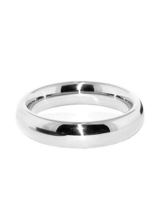 Black Label Stainless Steel Donut Cock Ring 40 mm