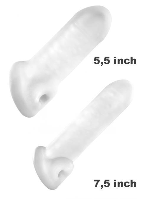 Perfect Fit Fat Boy Original Ultra Fat Sheath 7,5 inch Clear