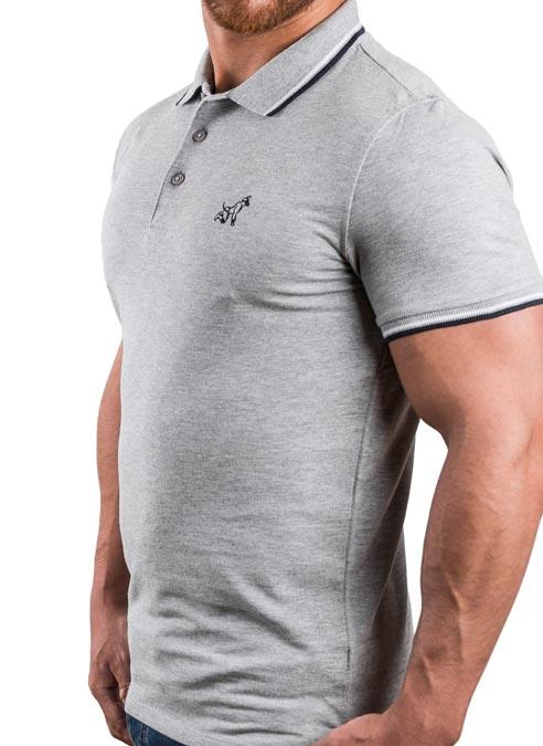 Master of the House Polo Shirt Puppy Grey Medium
