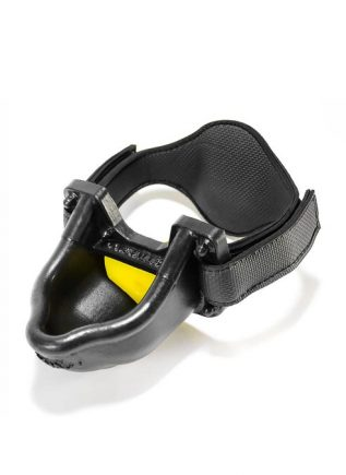 Oxballs Urinal Piss Gag Silicone Black / Yellow