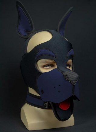Mr. S Neoprene WOOF! Head Harness Navy