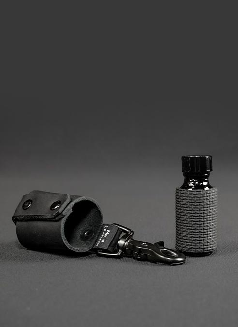 Mr. S Leather Poppers Bottle Holster Black