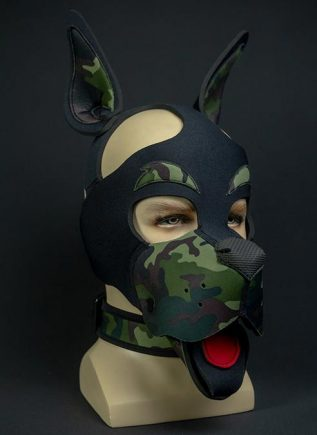 Mr. S Neoprene WOOF! Head Harness Camo