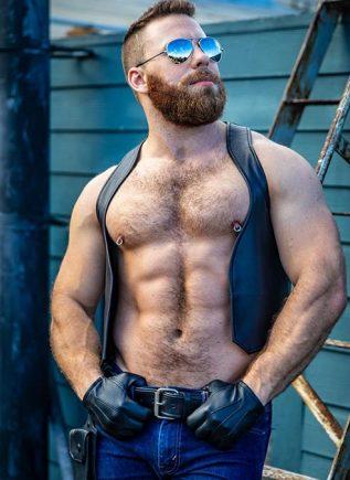 Mr. S Leather Berlin Bar Vest Small