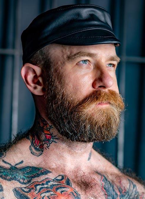 Mr. S Leather Carpenter Cap Black Large