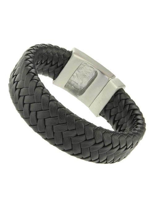 Bukovsky Wide Woven PU leather Bracelet - 19 cm