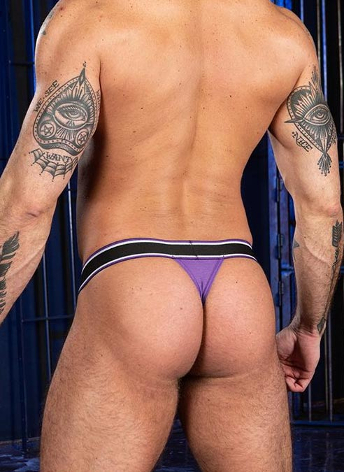 Mr. S Big Bulge Thong Purple Extra large