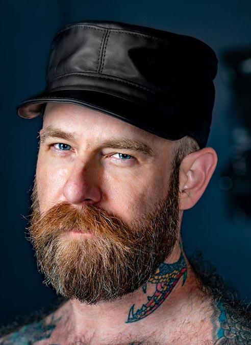 Mr. S Leather JT's Miner Cap Black Medium