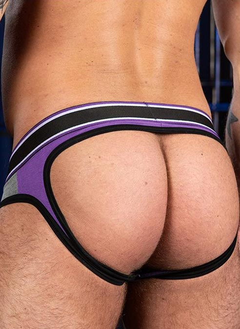 Mr. S Big Bulge Open Ass Brief Purple Extra large