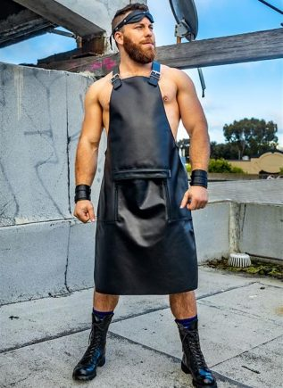 Mr. S Leather Sailor Front Apron