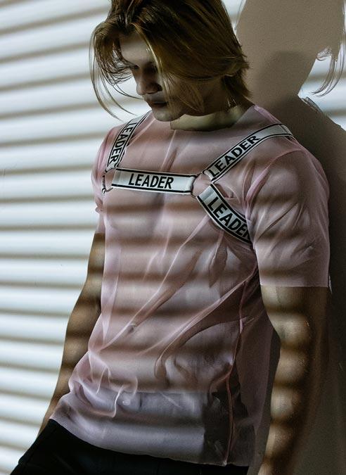 Leader Mesh Harness T-shirt Pink Large