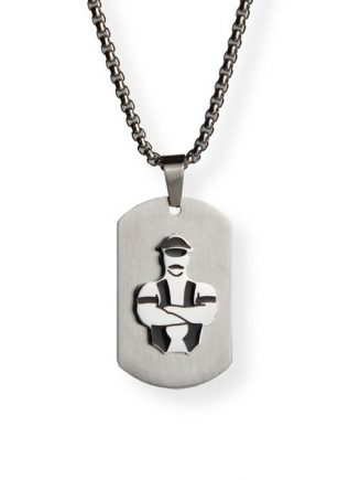 Master of the House Dog Tag Master Silver