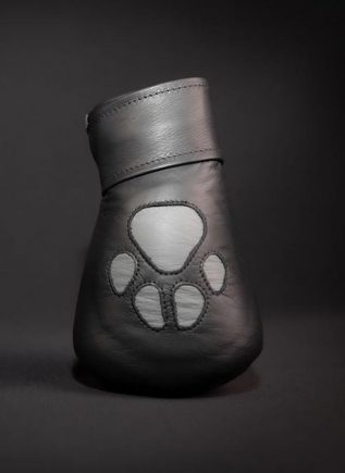 Mr. S Leather Padded K9 Mitts Grey