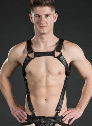 Mr. S Leather Crossbow Body Harness Black Small / Medium