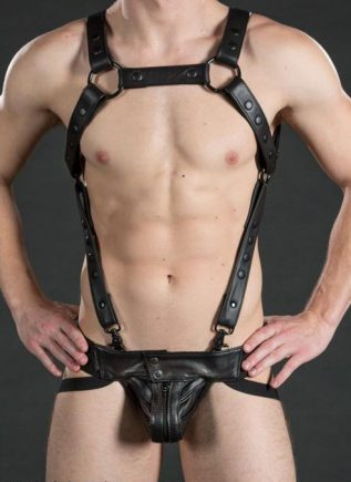 Mr. S Leather Sport Jock 2.0 Black Large