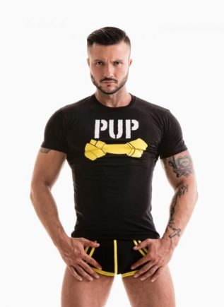 Fetish Gear Pup Tee Yellow Small