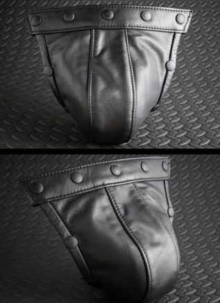 Mr. S Leather Pouch for Hidden Ring Jock Black