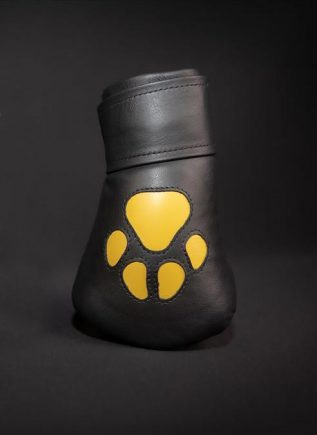 Mr. S Leather Padded K9 Mitts Yellow