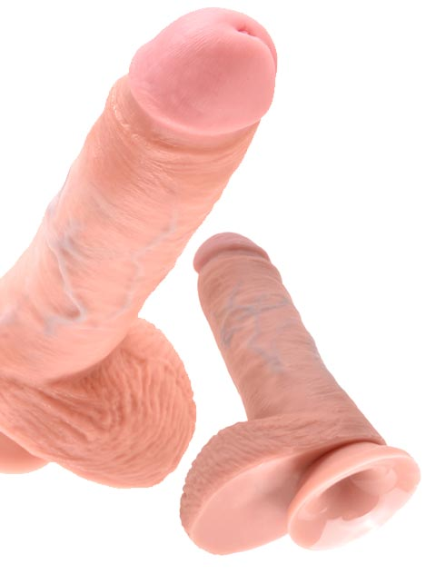 Pipedream King Cock Dildo with Balls Flesh 9 inch