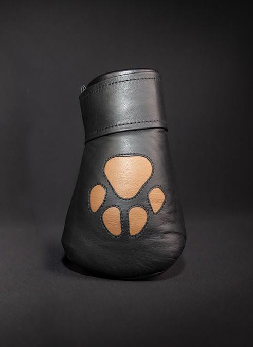 Mr. S Leather Padded K9 Mitts Tan