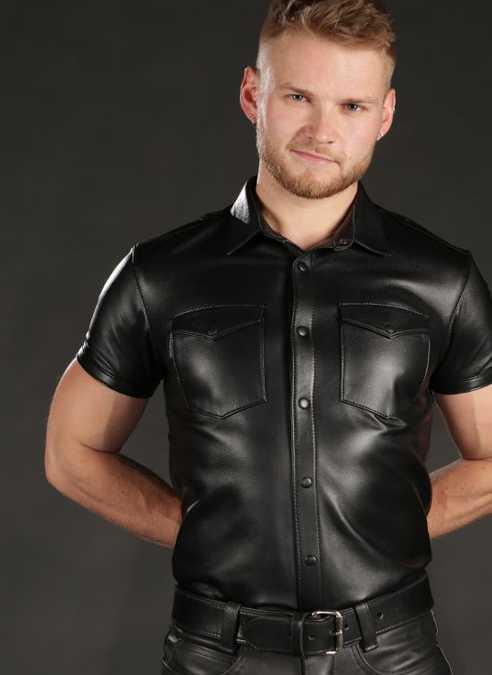 Mr. S Lambskin Classic Shirt Small