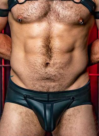 Mr. S Neoprene Codpiece Brief Black Extra large