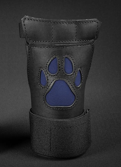 Mr. S Leather Open Paw Puppy Glove Navy