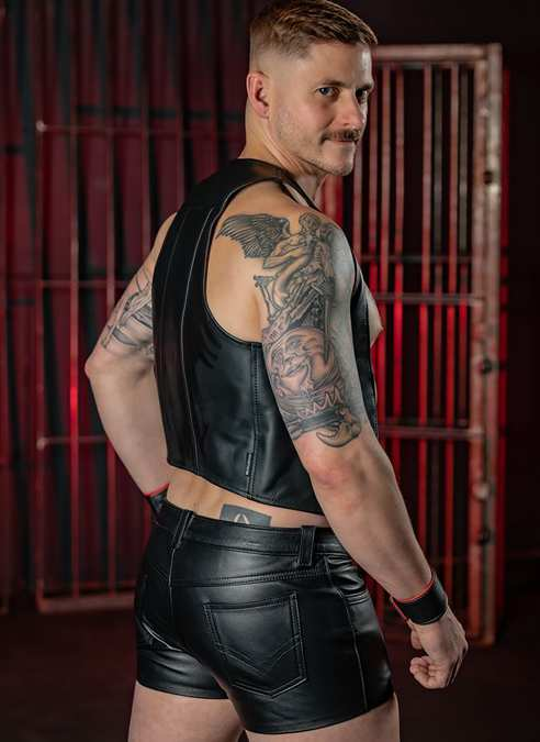 """Mr. S Leather Jean Short 34"""""""