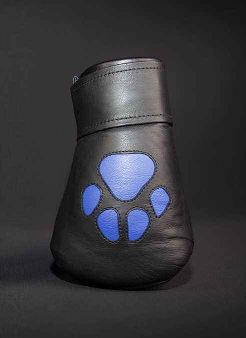 Mr. S Leather Padded K9 Mitts Blue
