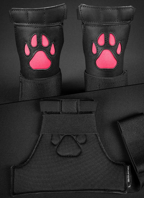 Mr. S Leather Open Paw Puppy Glove Pink