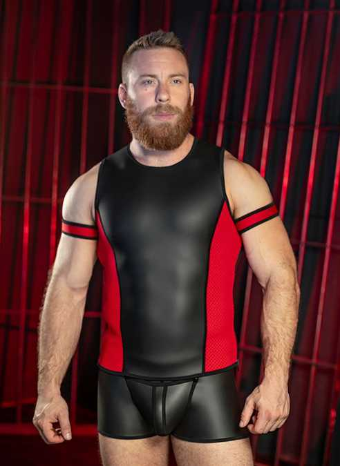 Mr. S Neo Muscle Tank Red Extra large
