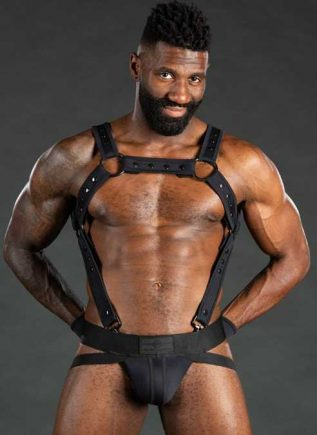 Mr. S Neo Carbon Black Jockstrap Black Medium