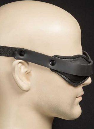 Mr. S Neoprene Padded Blindfold Black