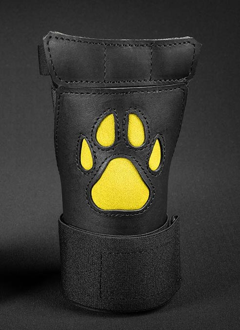 Mr. S Leather Open Paw Puppy Glove Yellow