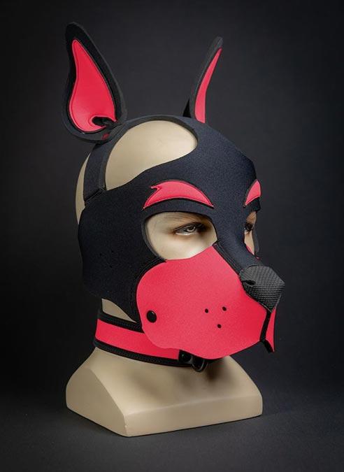 Mr. S Neoprene WOOF! Head Harness Pink