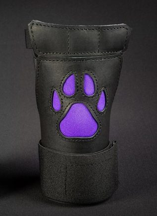 Mr. S Leather Open Paw Puppy Glove Purple