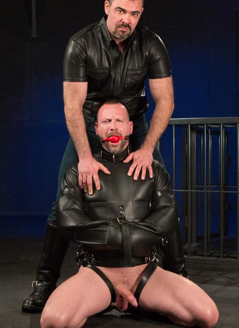 Mr. S Leather Deluxe Straitjacket with Arms-Down Option Large
