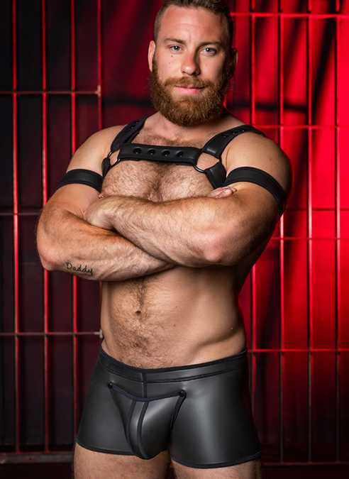 Mr. S Neoprene Full Access Boxer Black Medium