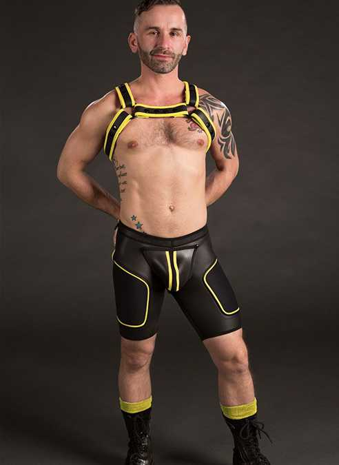 Mr. S Neoprene All Access Play Short Yellow Small