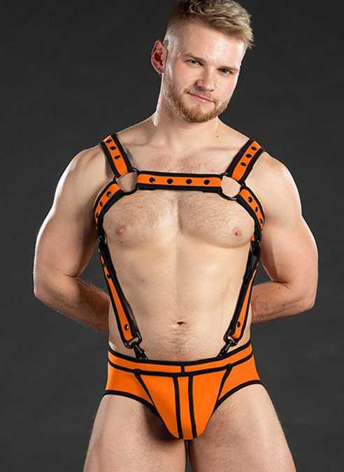 Mr. S Neo Bold Color Crossbow Harness Orange Large/Extra large