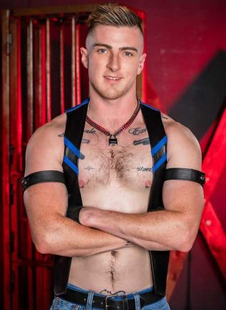 Mr. S Leather Sport Bar Vest Blue Extra large