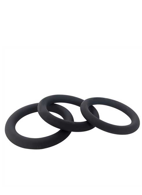 Brutus Slim Donut Silicone Cock Ring Black 50 mm