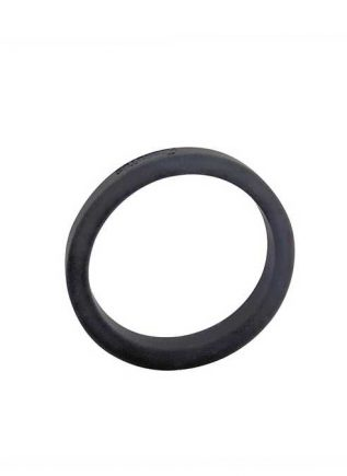 Brutus Flat Slick Silicone Cock Ring Black 55 mm