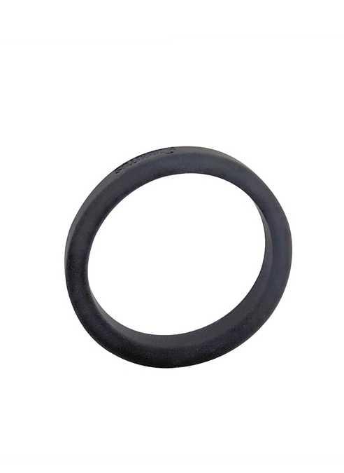 Brutus Flat Slick Silicone Cock Ring Black 55 mm