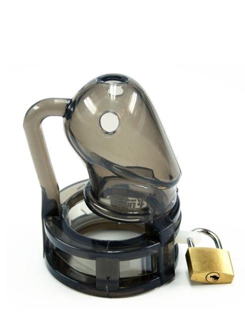 BON4 Silicone Chastity Cage Black Small / Medium