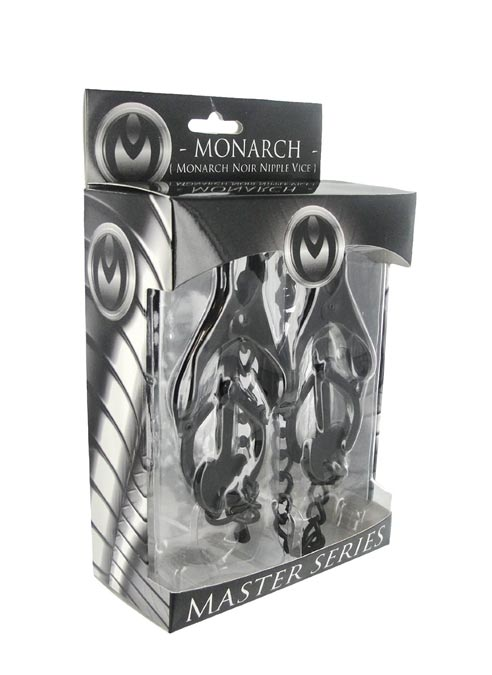 Master Series Monarch Noir Nipple Vice with Chain Black